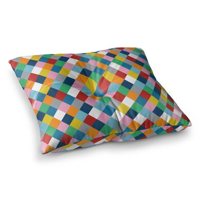 Project M Harlequin Zoom Square Floor Pillow Size: 23 x 23