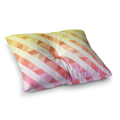 Tobe Fonseca Triangles Lines Pattern Digital Square Floor Pillow Size: 23 x 23
