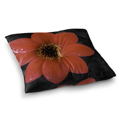 Nick Nareshni Wet Flower Petals Square Floor Pillow Size: 26 x 26
