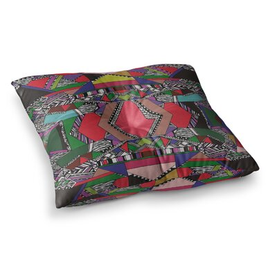 Vasare Nar African Motif Square Floor Pillow Size: 23 x 23