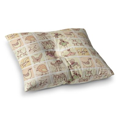 Marianna Tankelevich Birdies Square Floor Pillow Size: 23 x 23