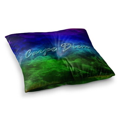 Shirlei Patricia Muniz Carpe Diem Digital Square Floor Pillow Size: 26 x 26