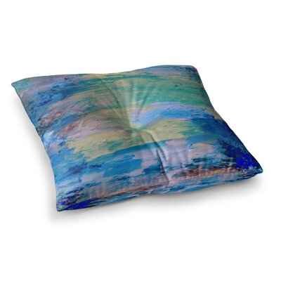 Nina May Mineral Surf Abstract Square Floor Pillow Size: 26 x 26