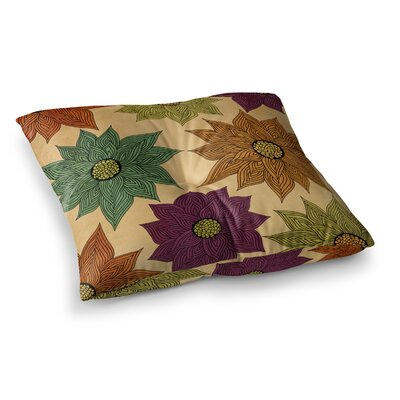 Pom Graphic Design Color Me Floral Square Floor Pillow Size: 26 x 26