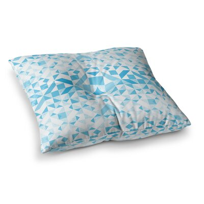 Vasare Nar Geometric Digital Square Floor Pillow Size: 23 x 23, Color: Blue/White