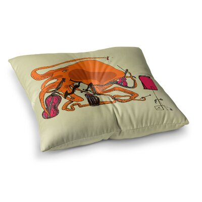 Marianna Tankelevich Playful Octopus Square Floor Pillow Size: 26 x 26