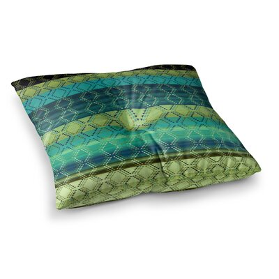 Nina May Denin Diamond Gradient Turquoise Emerald Square Floor Pillow Size: 23 x 23