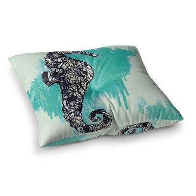 Sonal Nathwani Seahorse Square Floor Pillow Size: 23 x 23