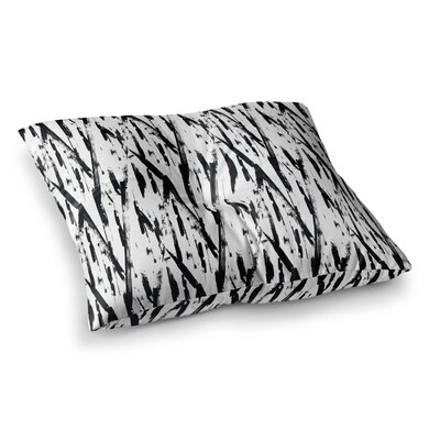 Hitidesign Brush Stroke Vector Square Floor Pillow Size: 26 x 26