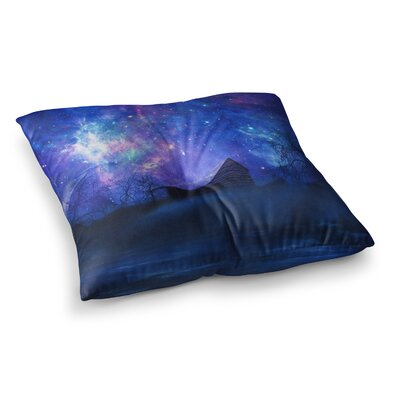 Viviana Gonzalez Beginning Galaxy Square Floor Pillow Size: 26 x 26