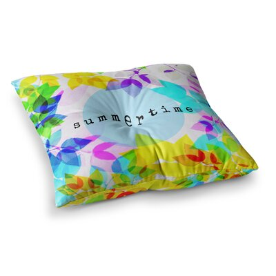 Sreetama Ray Seasons Summer Leaves Square Floor Pillow Size: 23 x 23