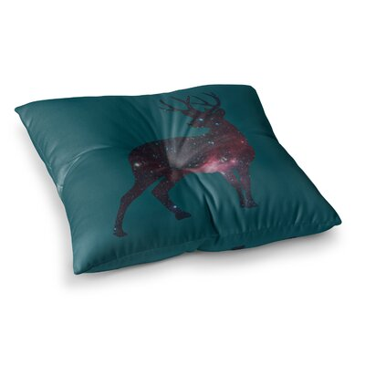 Alias Deer In The Starlight Square Floor Pillow Size: 26 x 26