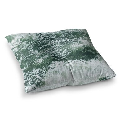 Suzanne Carter Oceans 2 Digital Square Floor Pillow Size: 26 x 26