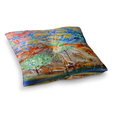 Nathan Gibbs Art The Earth Shows Its End Square Floor Pillow Size: 26 x 26