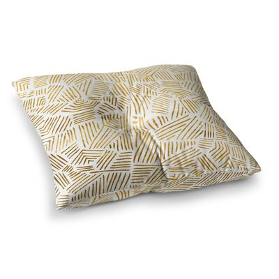 Pom Graphic Design Inca Trail Square Floor Pillow Size: 23 x 23, Color: Yellow/White
