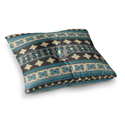 Nandita Singh Borders Square Floor Pillow Size: 26 x 26, Color: Blue