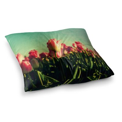 Robin Dickinson How Does Your Garden Grow Flowers Square Floor Pillow Size: 23 x 23