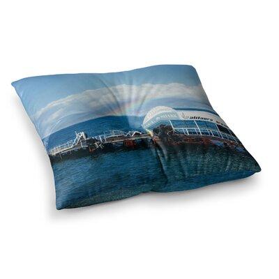 Victoria Krupp Mixing Dots Digital Square Floor Pillow Size: 26 x 26