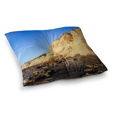 Nick Nareshni Beach Cliffside Rocks Square Floor Pillow Size: 23 x 23
