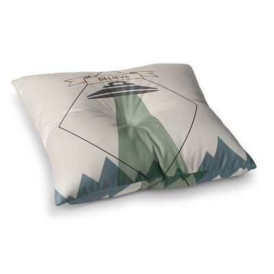 Alias Believe Geometric Square Floor Pillow Size: 23 x 23