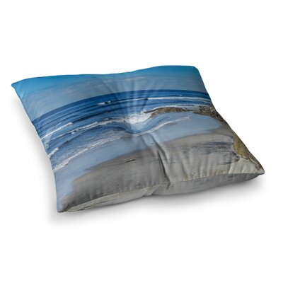Nick Nareshni Swamis Beach Coast Coastal Square Floor Pillow Size: 23 x 23