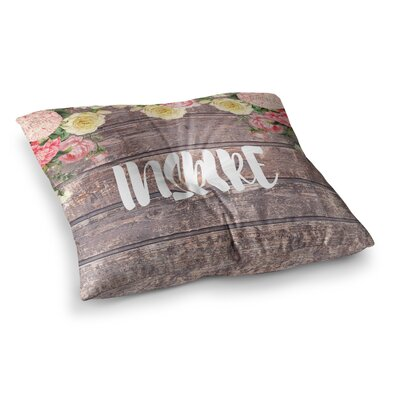 Suzanne Carter Inspire Contemporary Typography Square Floor Pillow Size: 23 x 23