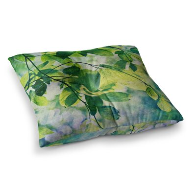 Sylvia Cook Leaves Square Floor Pillow Size: 26 x 26