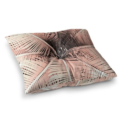 Suzanne Carter Palm-Peach Square Floor Pillow Size: 26 x 26, Color: Brown