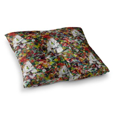 BarmalisiRTB A Typo Watercolor Square Floor Pillow Size: 23 x 23