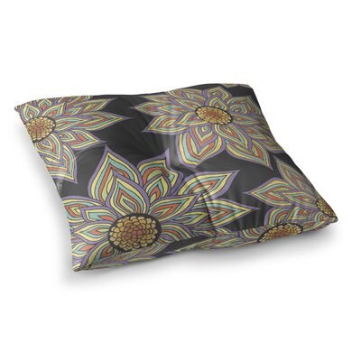 Pom Graphic Design Floral Rhythm Size: 23 x 23, Color: Black