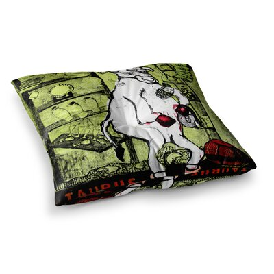 Theresa Giolzetti Taurus Square Floor Pillow Size: 23 x 23