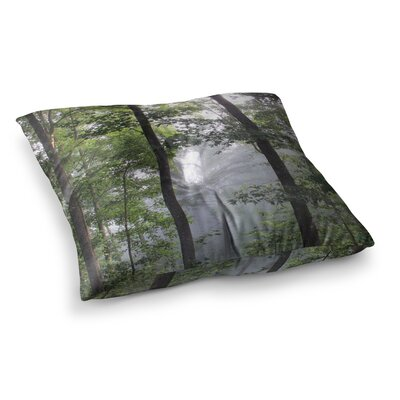 Rosie Brown Morning Fog Photography Square Floor Pillow Size: 26 x 26