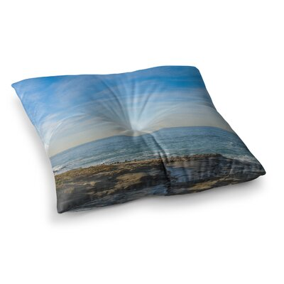 Nick Nareshni Sky over The Ocean Coastal Square Floor Pillow Size: 23 x 23