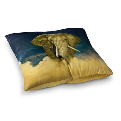 Nick Atkinson Celestial Elephant Square Floor Pillow Size: 26 x 26