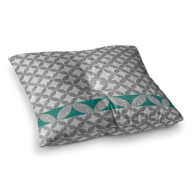 Nick Atkinson Diamond Turquoise Square Floor Pillow Size: 23 x 23, Color: Green