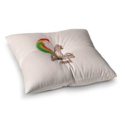 BarmalisiRTB Supreme Pyramid Digital Square Floor Pillow Size: 23 x 23