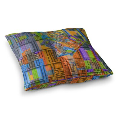 Michael Sussna Tile Rep Abstract Square Floor Pillow Size: 23 x 23