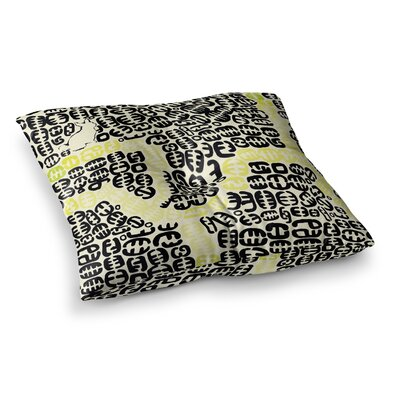 Theresa Giolzetti Oliver Square Floor Pillow Size: 23 x 23, Color: Yellow