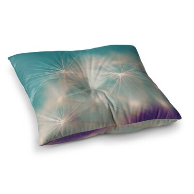 Sylvia Cook Dandelion Seedhead Square Floor Pillow Size: 26 x 26