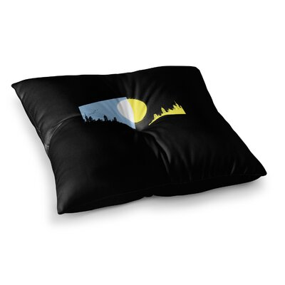 BarmalisiRTB Moon And Sun Digital Square Floor Pillow Size: 26 x 26