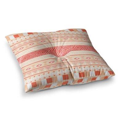 Skye Zambrana Mojave Square Floor Pillow Size: 26 x 26, Color: Orange