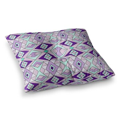 Pom Graphic Design Geometric Flow Lavender Geometric Square Floor Pillow Size: 23 x 23