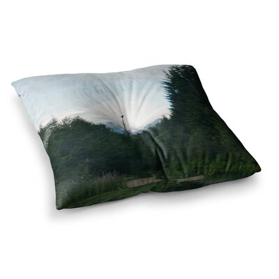 Robin Dickinson Go Get Lost Forest Square Floor Pillow Size: 23 x 23