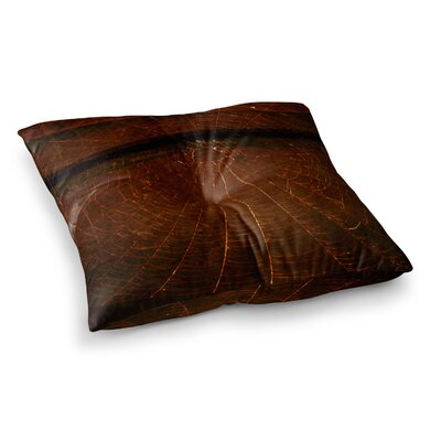 Robin Dickinson Dark Web Maroon Square Floor Pillow Size: 23 x 23