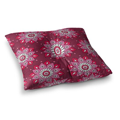 Snap Studio Pine Pattern Maroon Square Floor Pillow Size: 23 x 23