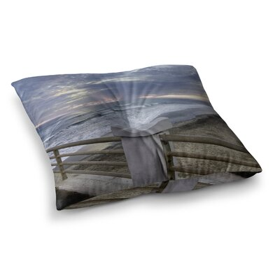 Nick Nareshni Oceanside Pier at Sunset Coastal Photography Square Floor Pillow Size: 26 x 26
