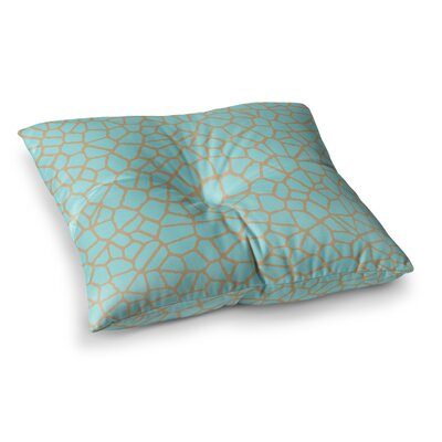 Trebam Staklo Square Floor Pillow Size: 26 x 26, Color: Green