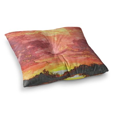 Oriana Cordero Horizon Sky Square Floor Pillow Size: 23 x 23