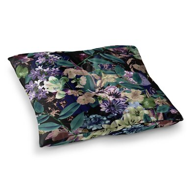 Victoria Krupp Midnight Garden Digital Square Floor Pillow Size: 23 x 23