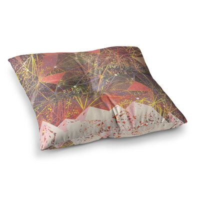 Marianna Tankelevich Space Mountain Mixed Media Square Floor Pillow Size: 26 x 26